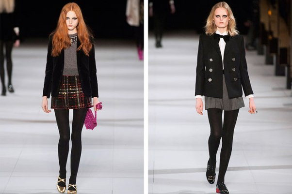 Saint Laurent schoolgirls