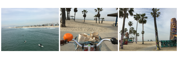 Santa Monica boardwalk biking