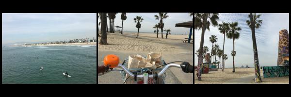 Santa Monica boardwalk biking