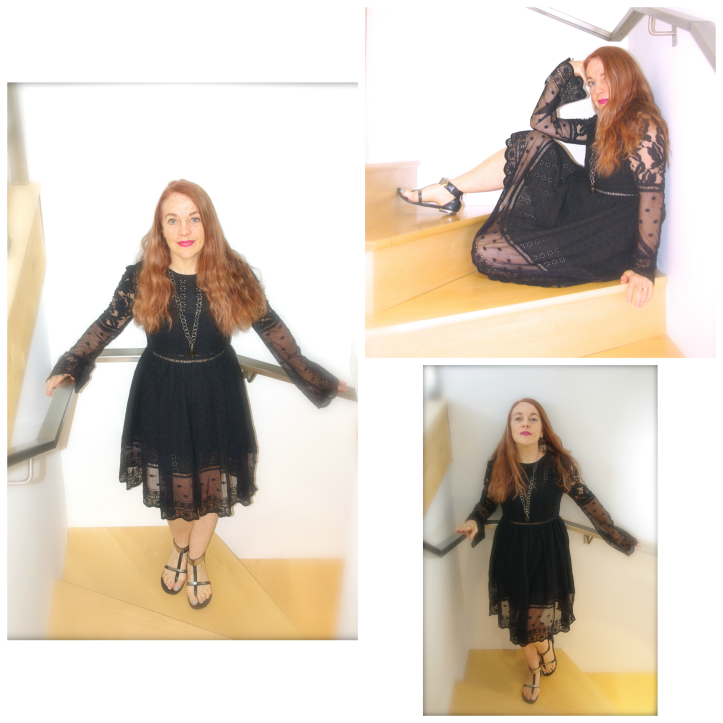 black dress photo shoot