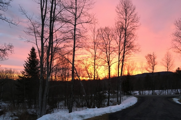 Sunrise in Vermont
