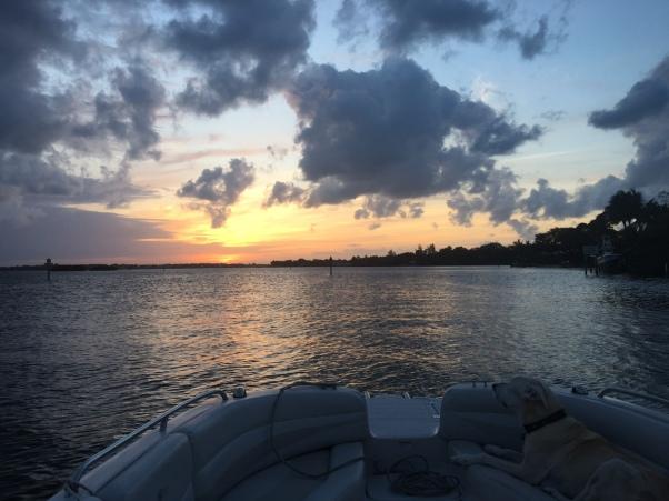 Jupiter Florida waterways at sunset