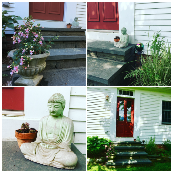 buddha on the front steps
