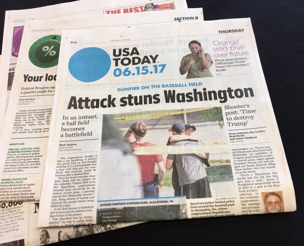 headline on recent gun shooting