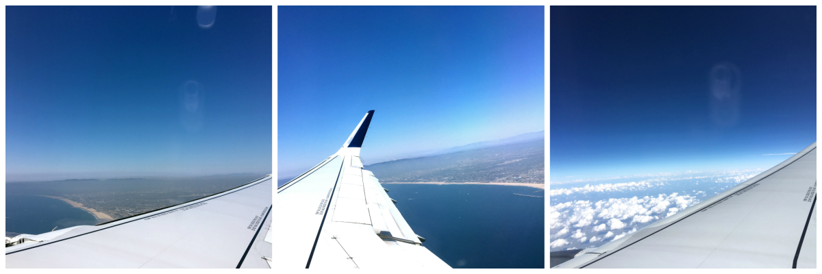 Flying over Los Angeles beaches
