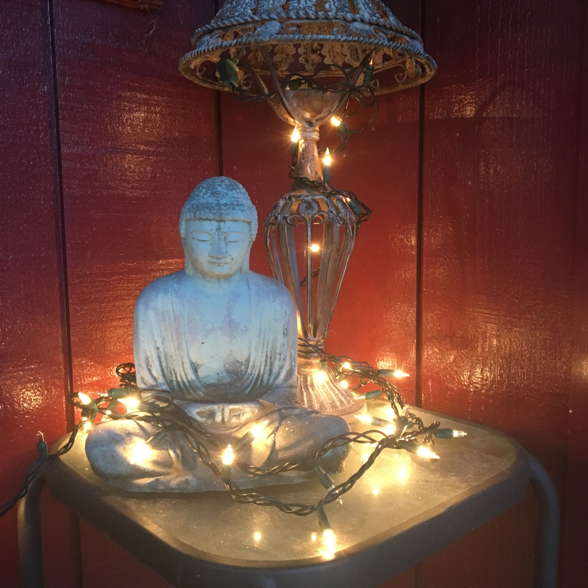 Buddha surrounded by light