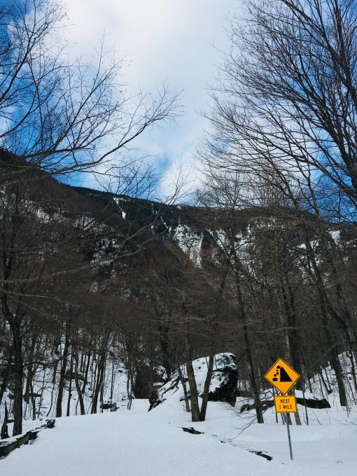 snowy mountain gap road