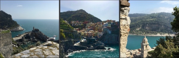 the coastline of Italy from Cinque Terre