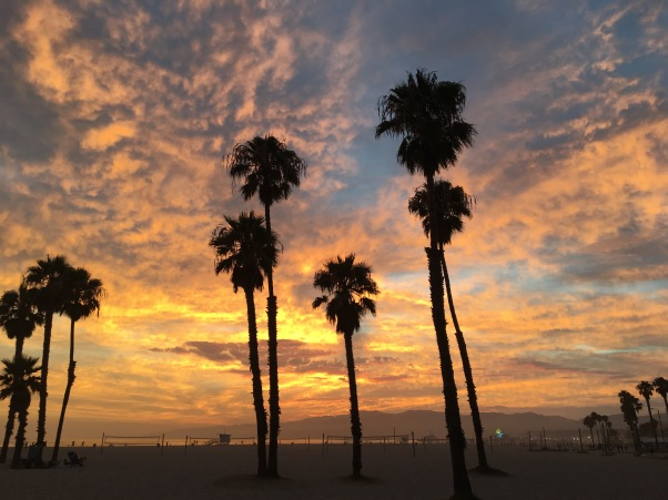 Santa Monica at sunset