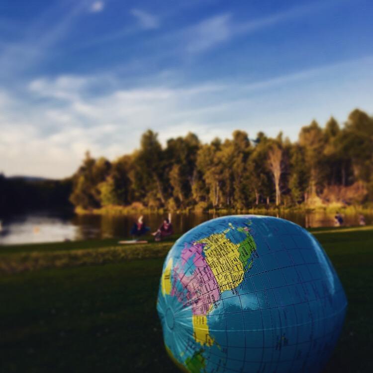 Beach ball of the world