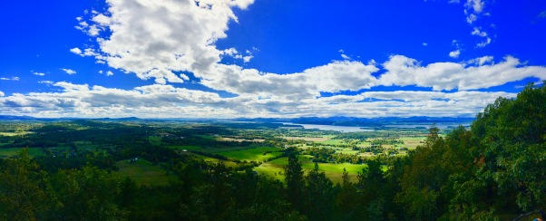 Lake Champlain from Mt Philo, Vermont