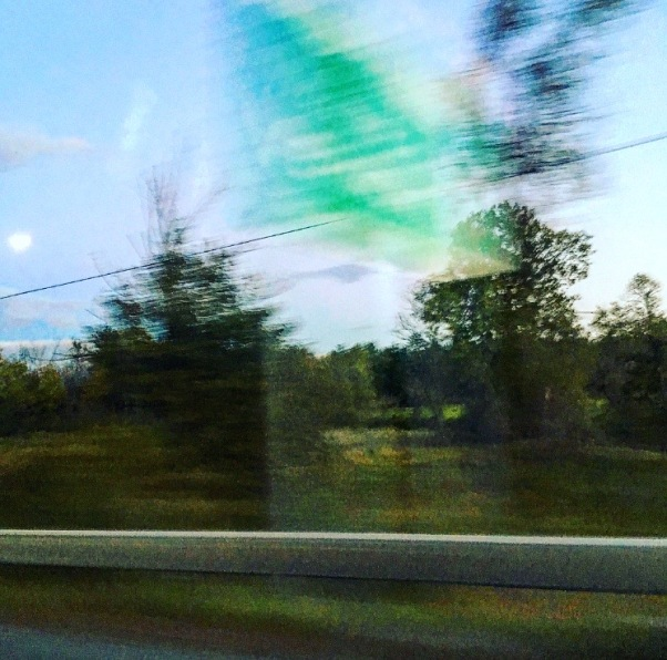 a blurry Vermont sign