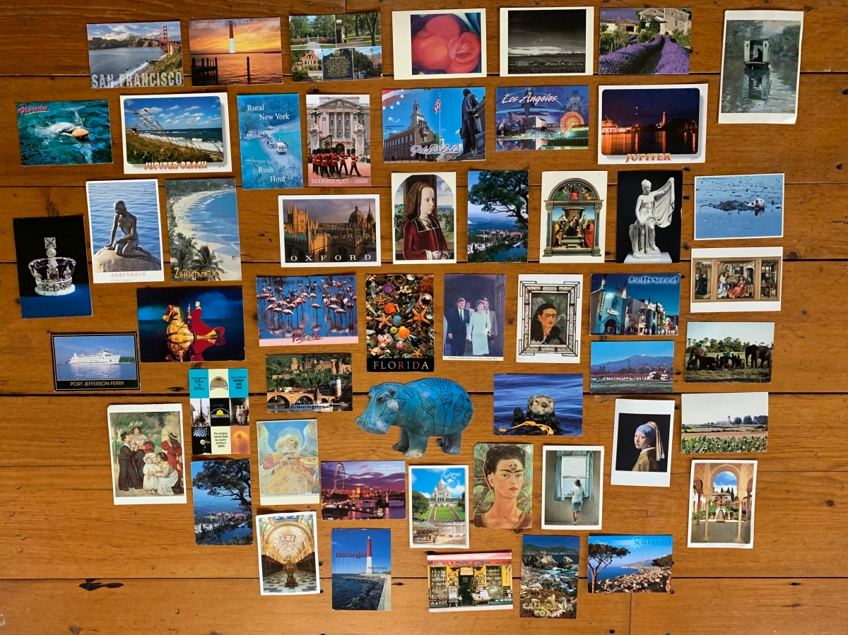 postcards from all around the world
